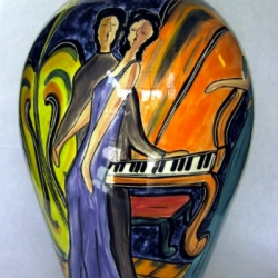 Playing Piano Ceramics by Claudia Beldent