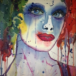 Cathy Watercolor by Claudia Beldent